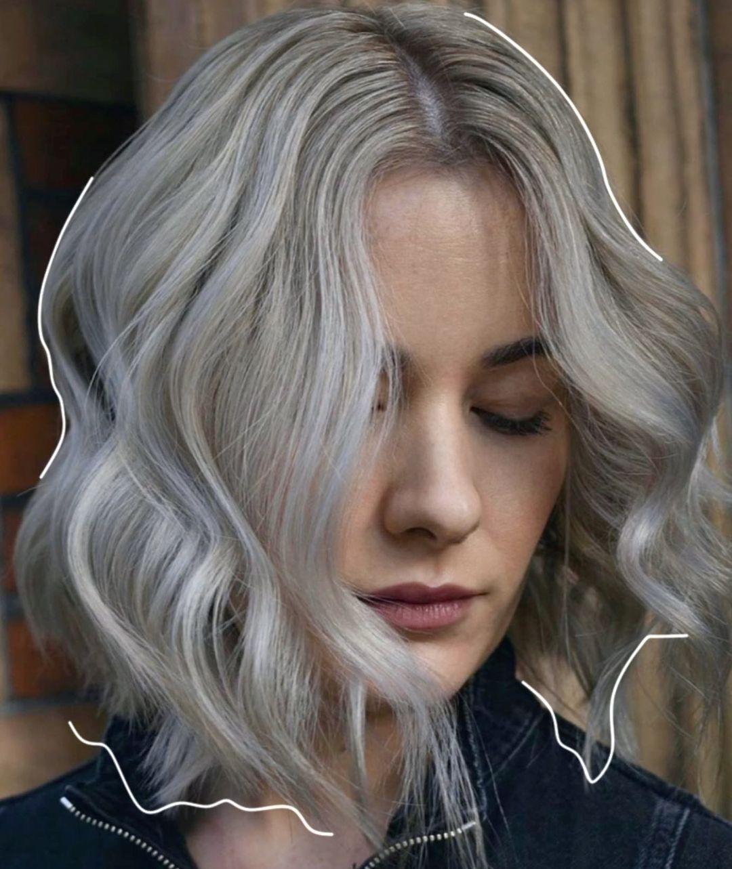 silver hair colour at Gusto hair salon Oxford Street, Central London